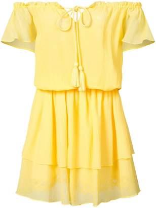 Kobi Halperin off-shoulder ruffle dress