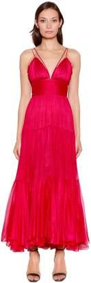 Maria Lucia Hohan Georgette Midi Dress