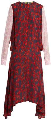 Preen Line Eimear Panelled Floral Print Crepe Dress - Womens - Multi