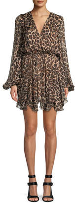 Caroline Constas Olena Leopard-Print Silk Mini Dress