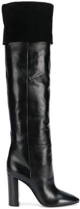 Saint Laurent Lou knee-high boots