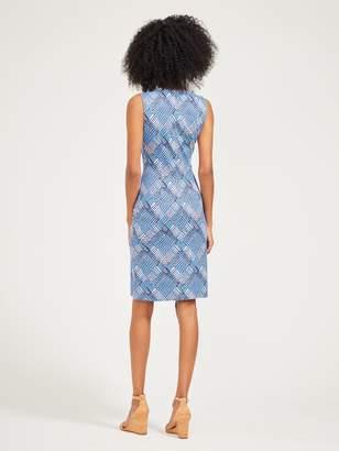 Devon Sleeveless Dress in Aster Sketch