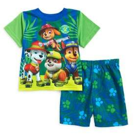 AME Sleepwear Little Boy's Two-Piece Paw Patrol Printed Tee and Shorts Pajama Set