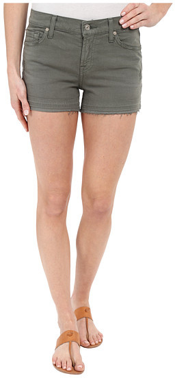 7 For All Mankind 7 For All Mankind Released Hem Shorts in Fatigue