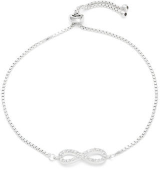 Lord & Taylor Infinity Cubic Zirconia Pave Bracelet $60 thestylecure.com