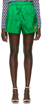 Prada Green Nylon Sport Shorts