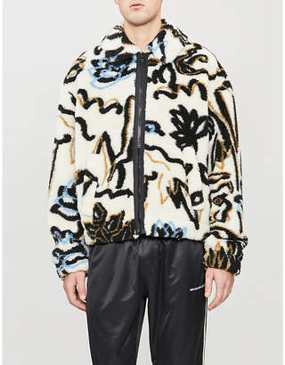 Kenzo Sketch pattern faux-fur jacket