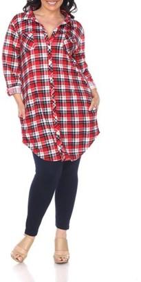 White Mark Women's Plus Size Rella Tunic Top