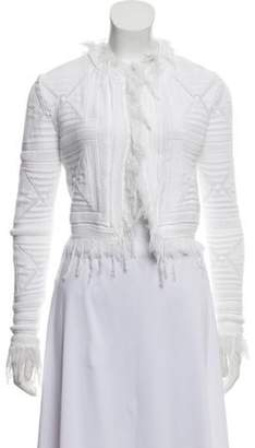 Chanel Cropped Knit Cardigan White Cropped Knit Cardigan