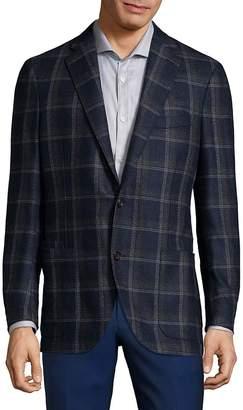 Luciano Barbera Men's Plaid Wool Sportcoat