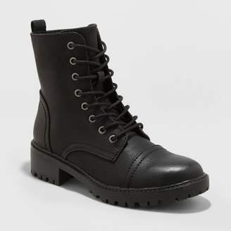 Universal Thread Women's Kamryn Faux Leather Combat Boot