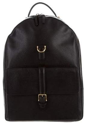 Thom Browne Grainy Leather Backpack
