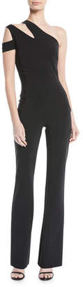 Chiara Boni Lety Asymmetric One-Shoulder Split jumpsuit