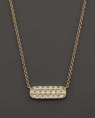 Bloomingdale's Small Diamond Bar Necklace in 14K Yellow Gold, .12 ct. t.w.