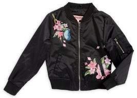 Urban Republic Girl's Floral Bomber Jacket