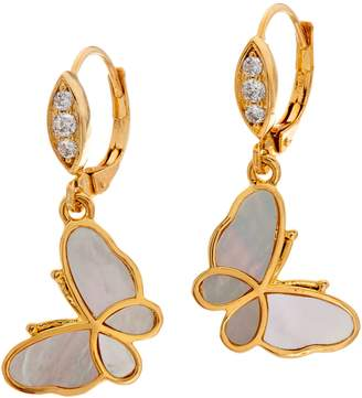 Mother of Pearl Lauren G. Adams Lauren G Adams Goldtone Mother-of-Pearl Butterfly Drop Earrings
