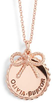 Olivia Burton Coin Bow Pendant Necklace