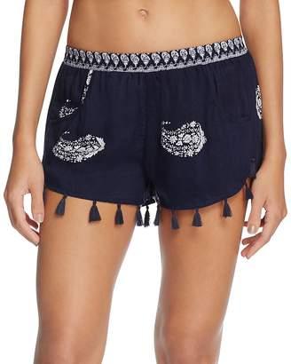 Surf Gypsy Deco Tassel Swim Cover-Up Shorts