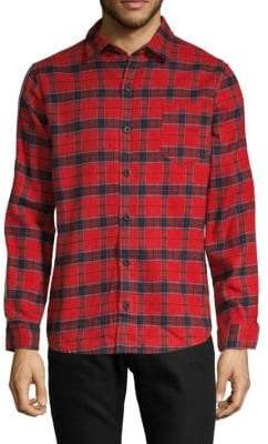 Flannel Tape Button-Down Shirt