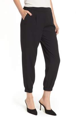 Trouve Stretch Crepe Jogger Pants