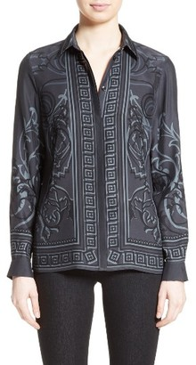 Women's Versace Collection Baroque Print Silk Blouse $650 thestylecure.com