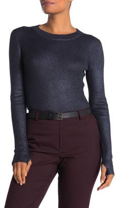 HUGO Sutala Ribbed Wool Blend Thumbhole Sweater