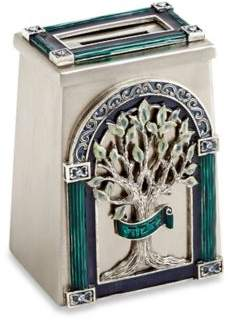 Quest Gifts and Design Quest Collection Tree of Life Tzedakah Charity Box