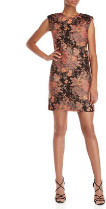 Maje Floral Jacquard Shift Dress