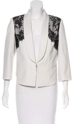 Robert Rodriguez Lace-Accented Structured Blazer