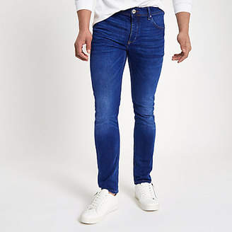 River Island Mid blue fade Eddy skinny jeans