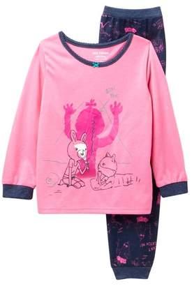 Joe Fresh Glow In The Dark Pajama Set (Toddler & Little Girls)