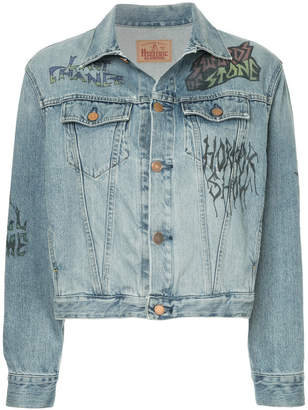 Hysteric Glamour graphic printed denim jacket