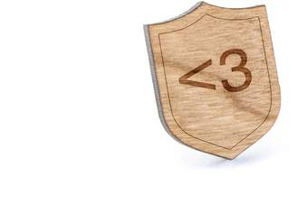 Wooden Accessories Company Love Lapel Pin, Wooden Pin