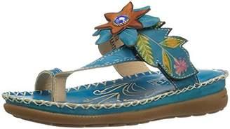 Spring Step L'Artiste by Women's Berry-Tq Slide Sandal