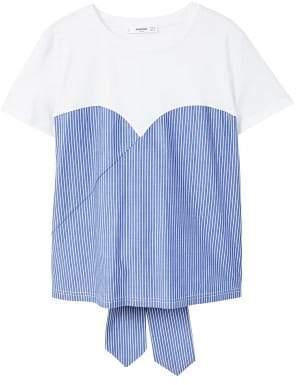 MANGO Knot striped t-shirt
