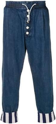 Sunnei drop-crotch trousers