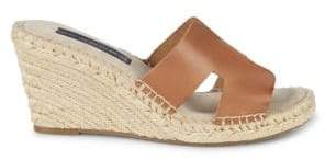Emelia Leather Wedge Sandals