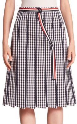 Thom Browne A-Line Gingham Skirt $1,900 thestylecure.com