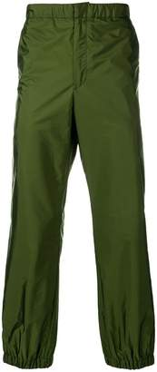 Prada logo cuff trousers