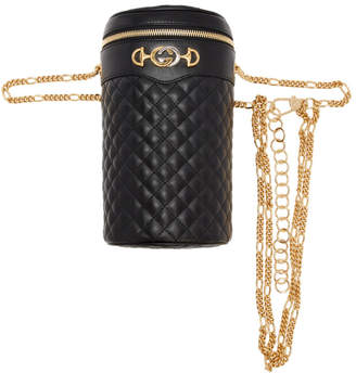 Gucci (グッチ) - Gucci ブラック キルト ポーチ
