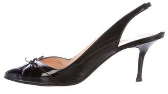 Christian Louboutin Christian Louboutin Patent Leather Pointed-Toe Pumps