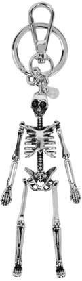 Alexander McQueen Silver Skeleton Keychain