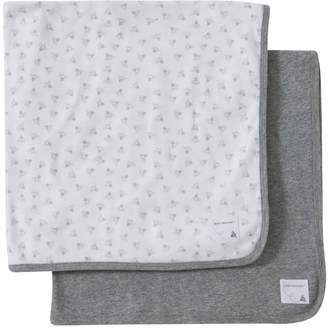 Burt's Bees Bee Essentials Single Ply Organic Baby Blankets Set of 2