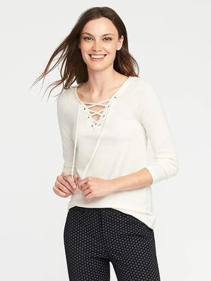 Old Navy Semi-Fitted Lace-Up Top for Women