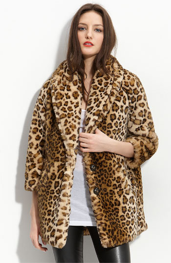 Hinge® Faux Fur Oversize Chubby Coat