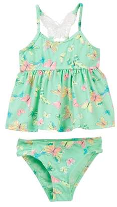 Hula Star Dreamy Butterfly 2-Piece Tankini (Toddler & Little Girls)