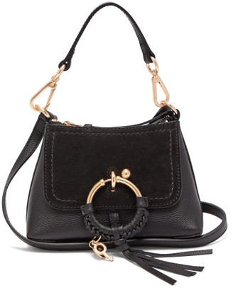 See by Chloe Joan Mini Leather And Suede Cross Body Bag - Womens - Black