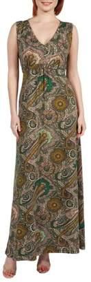 24/7 Comfort Apparel Zooey Empire Waist Maxi Dress