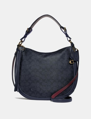 Coach Sutton Hobo In Signature Canvas