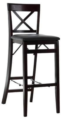 Linon Triena X Back Folding Bar Stool